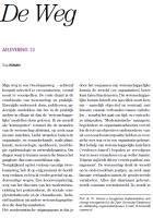 Voorkant artikel De Weg in Tijschrift begeleidingskunde